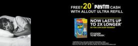 Paytm Allout – Buy Allout Ultra Refill And Get Free Rs. 20 Paytm Cash