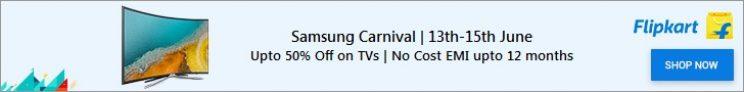 Flipkart Samsung Carnival 13 – 15th June – Get 10% cashback with CITI Cards