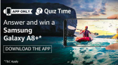 Amazon Samsung Galaxy A8+ Quiz Answers – Win A8+ Smartphone