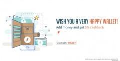 Freecharge WALLET – Get 5% Cashback On Adding Money