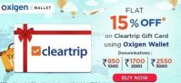 Oxigen Cleartrip Giftcard Offer – Flat 15% off with Oxigen Wallet