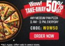PizzaHut – Get Flat 50% OFF On Pizza's