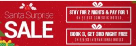 Goibibo Santa Surprise Sale – Stay For 2 Days Pay For 1 Day