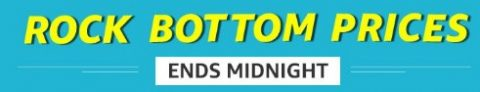 Amazon Rock Bottom Sale – Ends Midnight