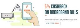 Freecharge – Get 5% Cashback Upto 40 On Broadband Bill Payments