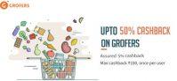 Freecharge Grofers – Get Upto 50% Cashback On Grofers
