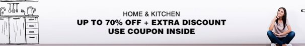 Get Upto 70% + Extra 15% Off on Home & Kitchen – Homeshop18