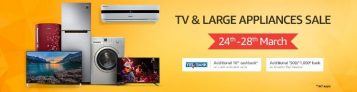 Amazon Tv Appliances sale – Get Upto 80% Discount + 10% Additional Cashback
