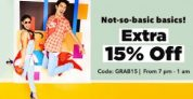 Get Upto 80% off + Extra 15% Off – Jabong