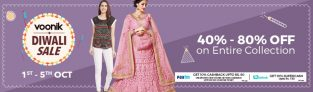 Voonik Diwali Sale 1 – 5th oct – Get Upto 80% off on entire collection