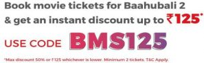 Bookmyshow – Get 50% Discount On Movie Tickets