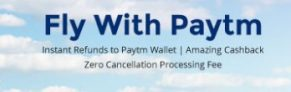 Paytm Flight Booking Offer – Get Flat Rs 555 cashback on Bookings
