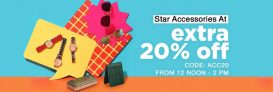 Star Accessories Upto 80% off + Extra 20% Off – Jabong
