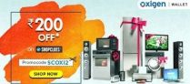 Oxigen Wallet  – Get Rs 200 Off on purchase of Rs 1200 on Shopclues