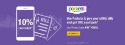 Pockets – Get 10% Cashback On Utility Bills Payments