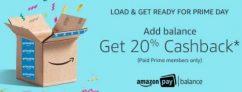 Amazon Prime Pay Balance offer – Get 20% cashback On Addding Money