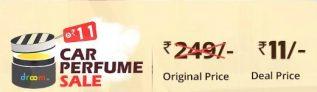 Droom Car Perfume Sale – Get Car Perfume At Rs 11