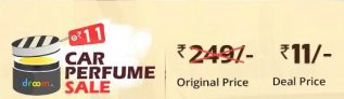 Droom Car Perfume Sale – Get Car Perfume At Rs 21