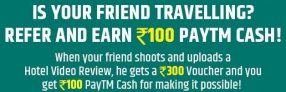HolidayIQ – Get Rs.300 Voucher & Rs.100 Paytm Cash On Hotel Video Review