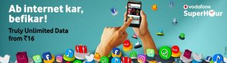 Vodafone Super Hour – Get Unlimited 4G Internet Data At Rs 21