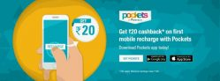 Mobile Recharge Rs.25 Cashback on Rs.100 on Pockets By ICICI App [All Bank Users]