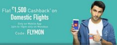 Makemytrip – Get Rs.1500 Cashback On Domestic Flight Booking