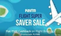 Paytm [FLYDAY] Offer – Get Rs.555 Cashback On Domestic Flight Booking