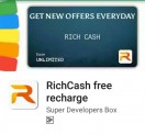 RichCash – Get Free Rs.10 Recharge On Signup + Refer and Earn More