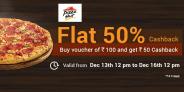 Flat 50% Cashback on Pizza Hut Vouchers