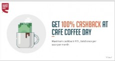 Get 100% Cashback at CCD Through Freecharge