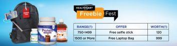 Shop and Get Free Selfie Stick or Bag – HealthKart
